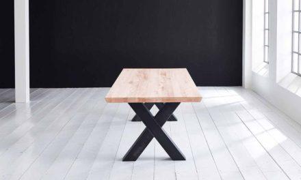 Concept 4 You Plankebord – Schweizerkant med Freja-ben, m. udtræk 6 cm 300 x 100 cm 03 = white wash