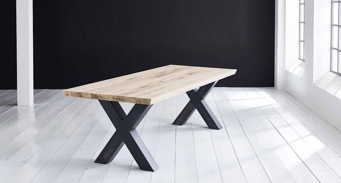 Concept 4 You Plankebord – Schweizerkant med Freja-ben, m. udtræk 6 cm 240 x 100 cm 04 = desert