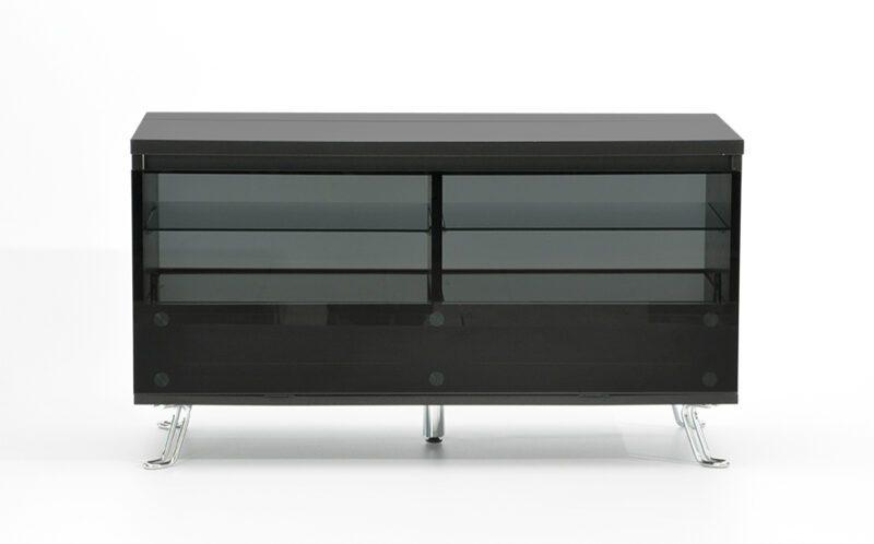 Cato TV-bord – sort med glaslåge