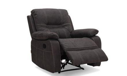 HAGA Detroit recliner lænestol – gråt stof