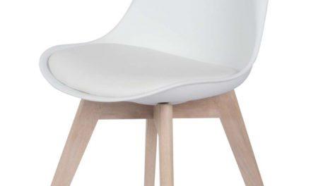 Mia spisebordsstol, hvid/eg