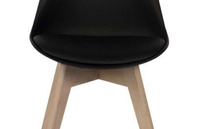 Mia spisebordsstol, sort/eg