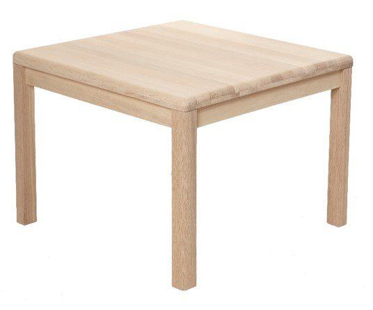 Lina hjørnebord, massivt eg – kvadratisk