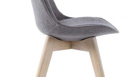 Rosa spisebordsstol, Grå/eg