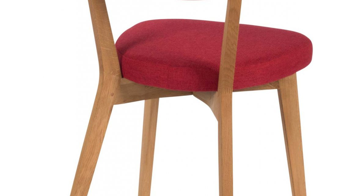 Lucy spisebordsstol, rød/eg