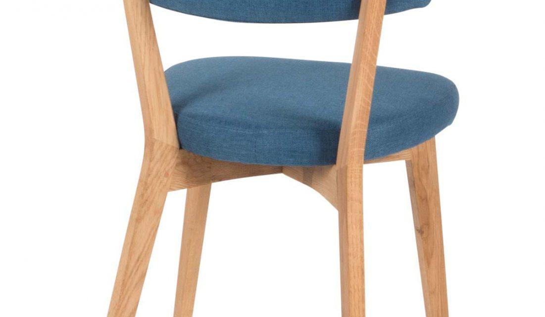 Lucy spisebordsstol, blå/eg