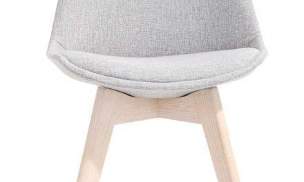 Rosa spisebordsstol, lysegrå/eg