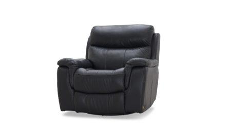 HAGA Arizona recliner lænestol – sort læder