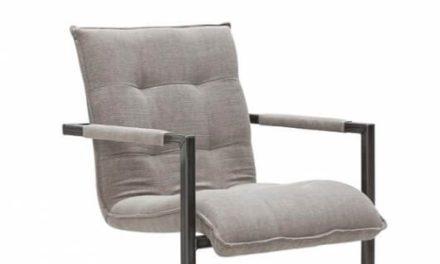Sabina Spisebordsstol med Armlæn, Grå Stof