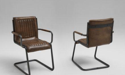 Franco læder spisebordsstol med armlæn