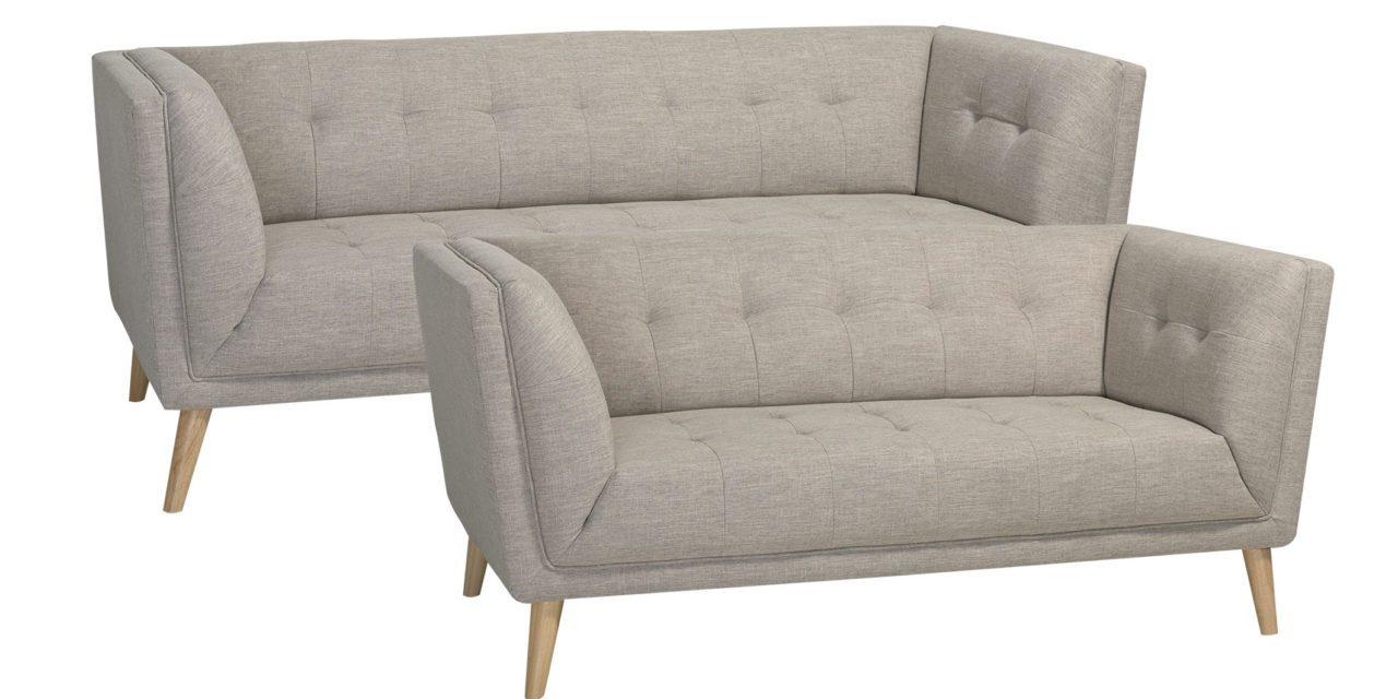 Palermo sofasæt i beige stof – 2+3er sofa