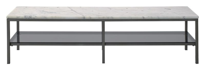 Ascot marmor TV-bord – hvid/grå