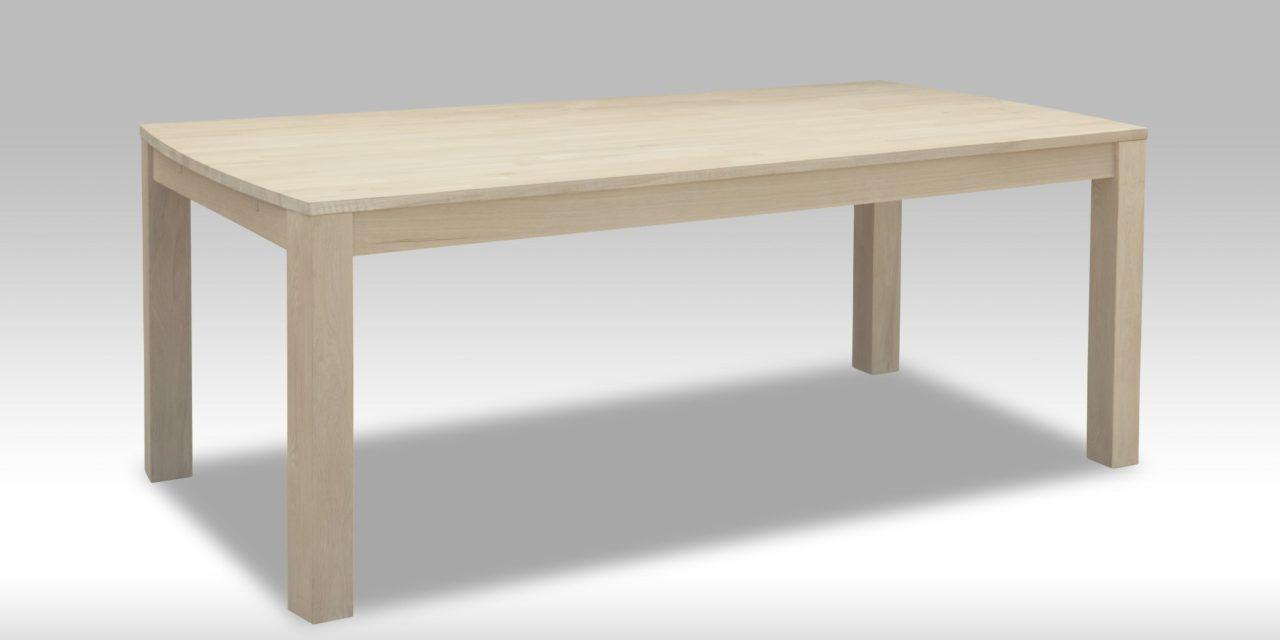 Paris Spisebord i hvidolieret egetræ (140×90)