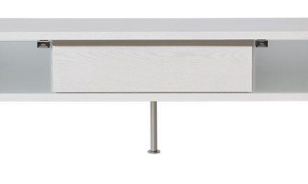Frank TV-bord med skuffe – hvid