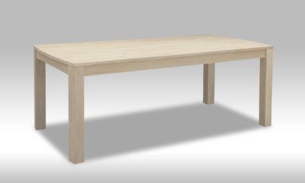 Paris spisebord i hvidolieret eg (200×100)