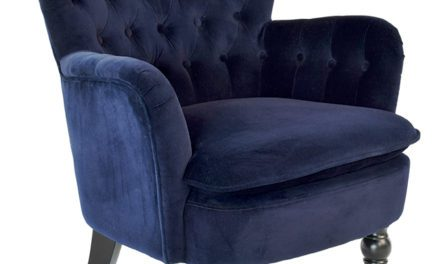 Amy velour lænestol, Blå
