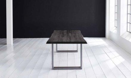 Concept 4 You Plankebord – Barkkant Eg med Manhattan ben, m. udtræk 6 cm 280 x 110 cm 07 = mocca black