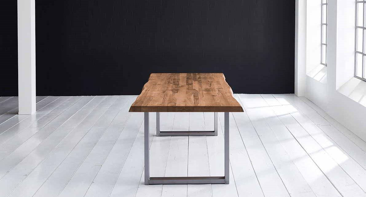Concept 4 You Plankebord – Barkkant Eg med Manhattan ben, m. udtræk 6 cm 220 x 110 cm 01 = olie