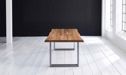 Concept 4 You Plankebord – Barkkant Eg med Manhattan ben, m. udtræk 6 cm 240 x 110 cm 01 = olie
