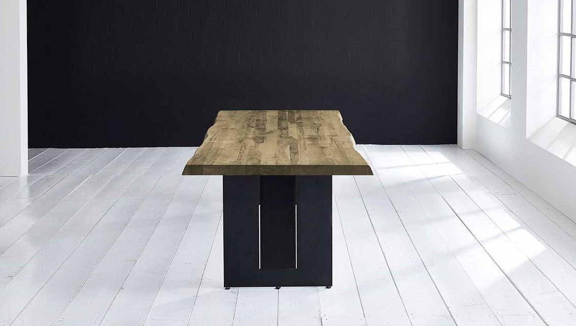 Concept 4 You Plankebord – Barkkant Eg med Steven ben, m. udtræk 6 cm 260 x 110 cm 05 = sand