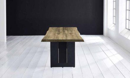 Concept 4 You Plankebord – Barkkant Eg med Steven ben, m. udtræk 6 cm 300 x 110 cm. 05 = sand