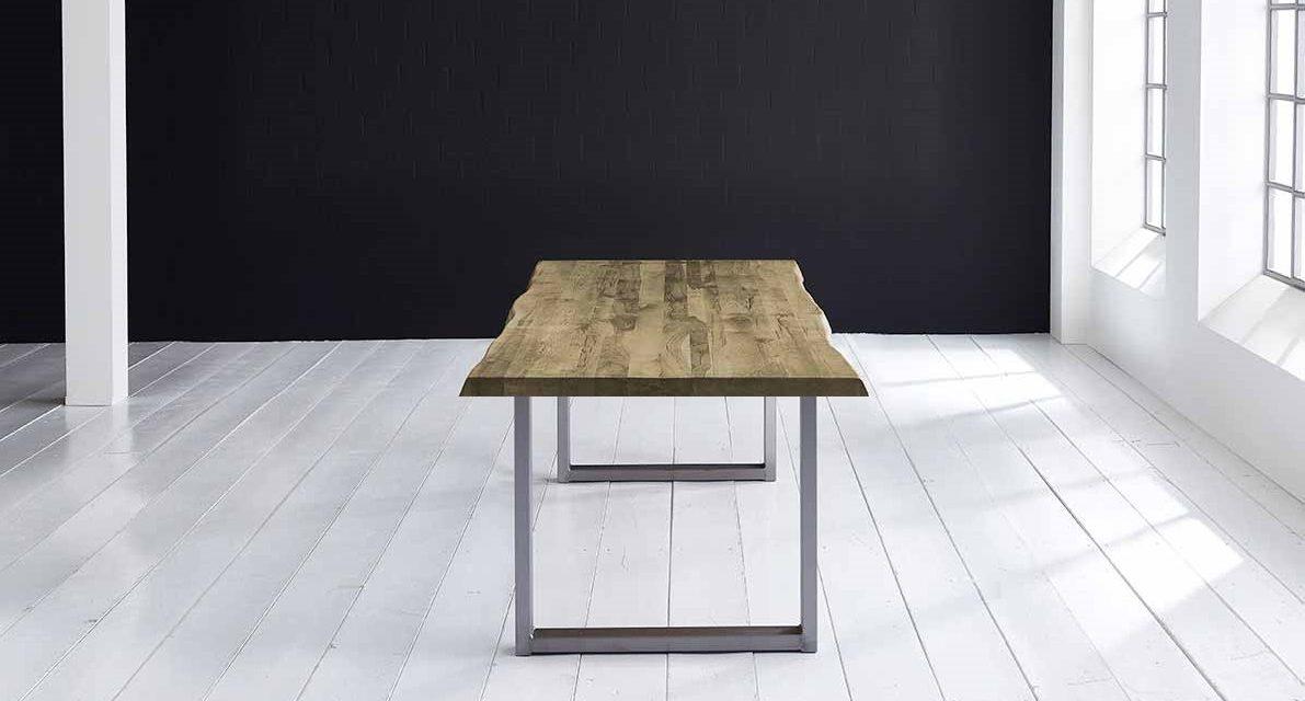 Concept 4 You Plankebord – Barkkant Eg med Manhattan ben, m. udtræk 6 cm 300 x 100 cm 04 = desert