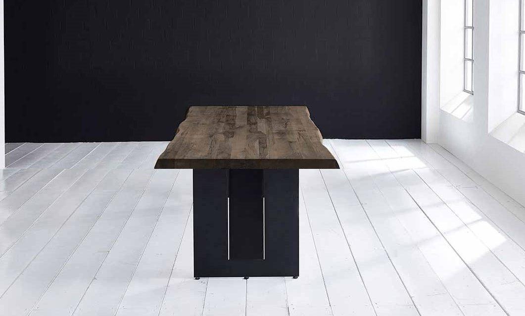 Concept 4 You Plankebord – Barkkant Eg med Steven ben, m. udtræk 6 cm 220 x 100 cm 02 = smoked