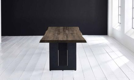 Concept 4 You Plankebord – Barkkant Eg med Steven ben, m. udtræk 6 cm 300 x 110 cm. 02 = smoked