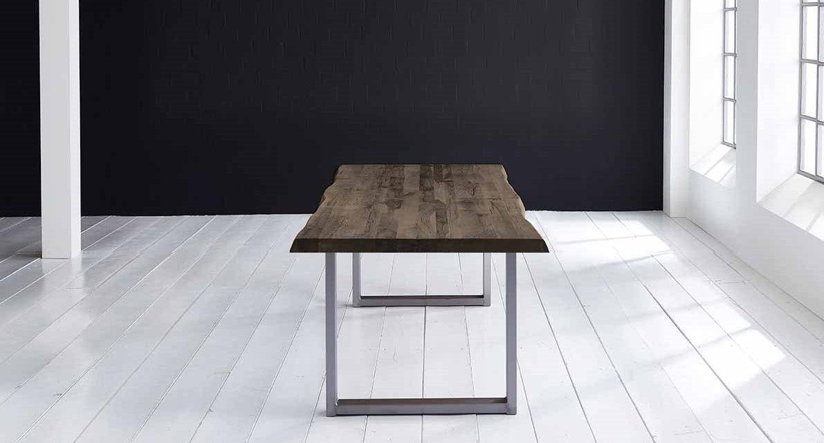 Concept 4 You Plankebord – Barkkant Eg med Manhattan ben, m. udtræk 6 cm 240 x 100 cm 02 = smoked