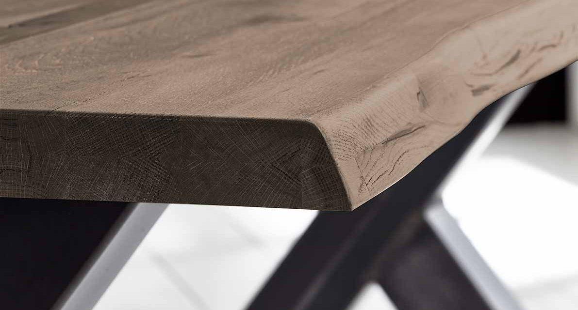 Concept 4 You Plankebord – Barkkant Eg med Steven ben, m. udtræk 3 cm 240 x 100 cm 02 = smoked