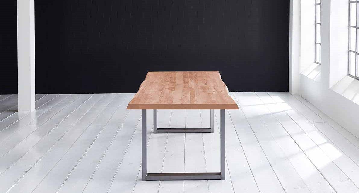 Concept 4 You Plankebord – Barkkant Eg med Manhattan ben, m. udtræk 6 cm 200 x 110 cm 03 = white wash