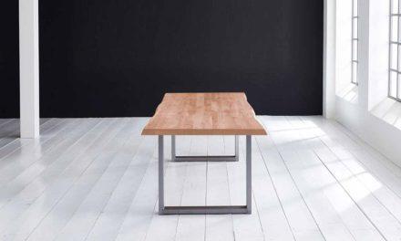 Concept 4 You Plankebord – Barkkant Eg med Manhattan ben, m. udtræk 6 cm 300 x 110 cm. 03 = white wash