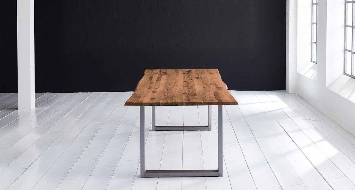 Concept 4 You Plankebord – Barkkant Eg med Manhattan ben, m. udtræk 3 cm 220 x 100 cm 06 = old bassano