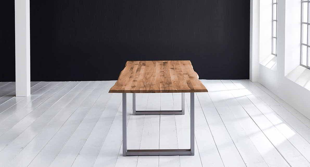 Concept 4 You Plankebord – Barkkant Eg med Manhattan ben, m. udtræk 3 cm 180 x 100 cm 01 = olie