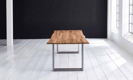 Concept 4 You Plankebord – Barkkant Eg med Manhattan ben, m. udtræk 6 cm 180 x 100 cm 05 = sand