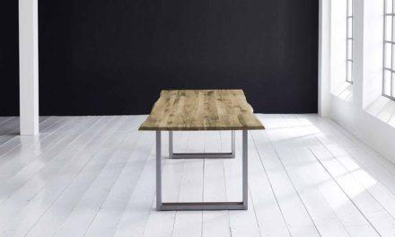 Concept 4 You Plankebord – Barkkant Eg med Manhattan ben, m. udtræk 3 cm 200 x 100 cm 04 = desert
