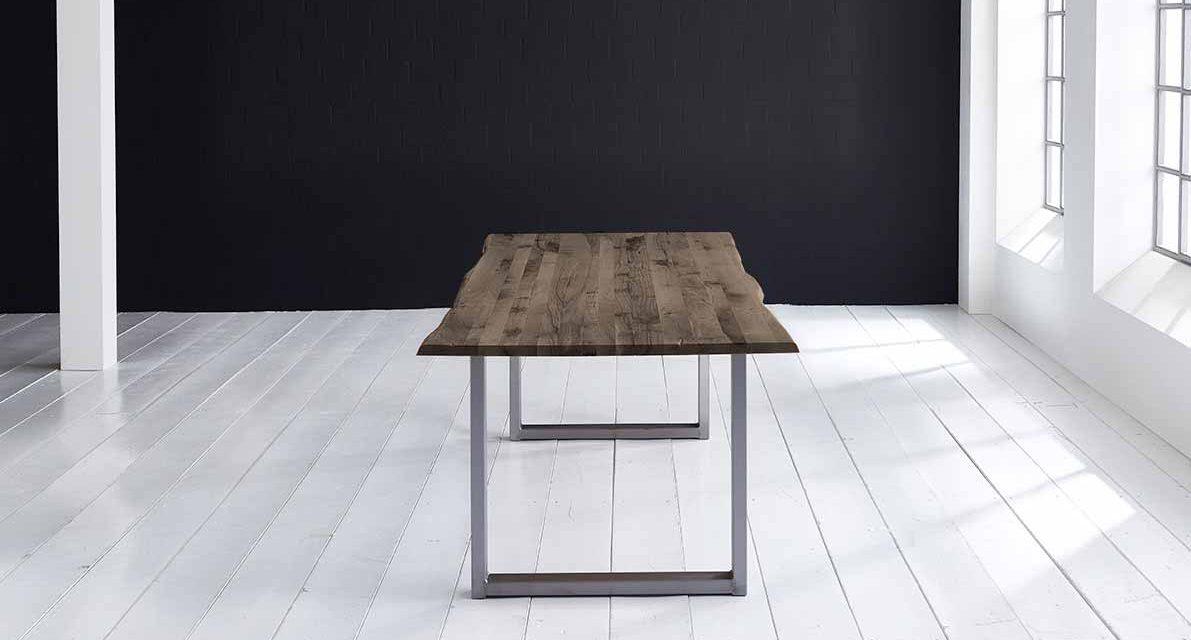 Concept 4 You Plankebord – Barkkant Eg med Manhattan ben, m. udtræk 3 cm 240 x 100 cm 02 = smoked