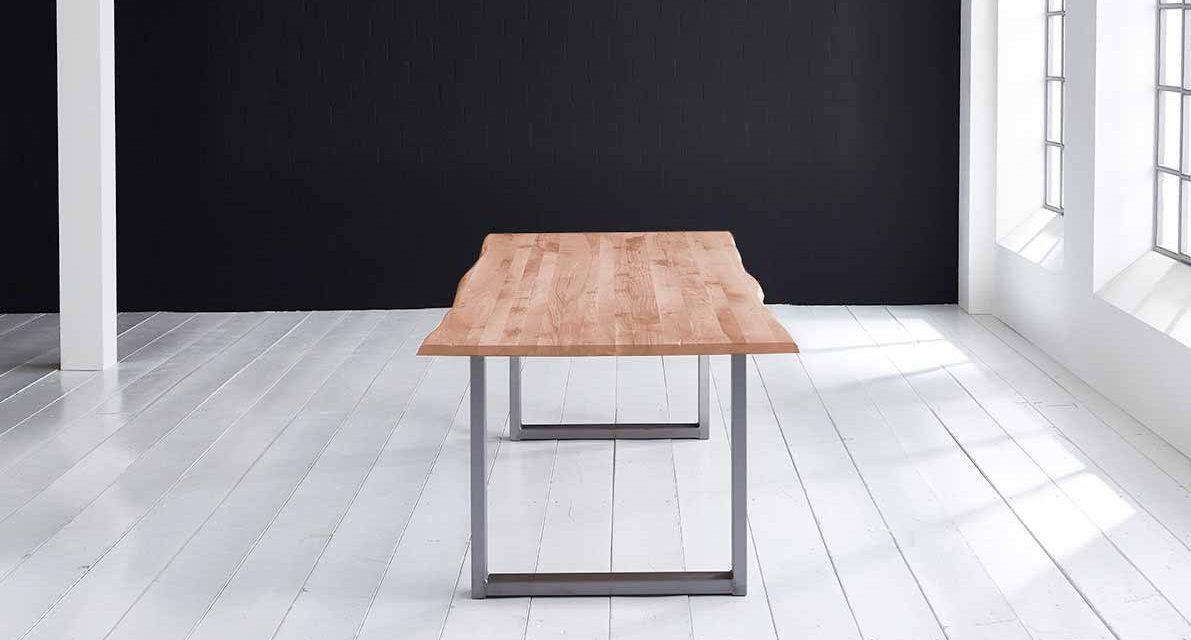 Concept 4 You Plankebord – Barkkant Eg med Manhattan ben, m. udtræk 3 cm 240 x 100 cm 03 = white wash
