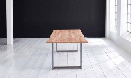 Concept 4 You Plankebord – Barkkant Eg med Manhattan ben, m. udtræk 3 cm 200 x 100 cm 03 = white wash