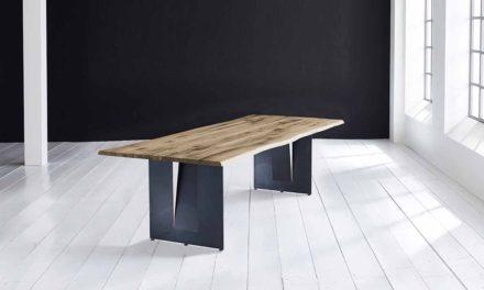 Concept 4 You Plankebord – Barkkant Eg med Steven ben, m. udtræk 3 cm 200 x 100 cm 04 = desert