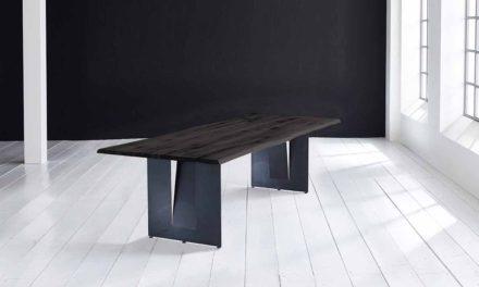 Concept 4 You Plankebord – Barkkant Eg med Steven ben, m. udtræk 3 cm 200 x 100 cm 07 = mocca black