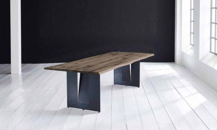 Concept 4 You Plankebord – Barkkant Eg med Steven ben, m. udtræk 3 cm 260 x 100 cm 02 = smoked
