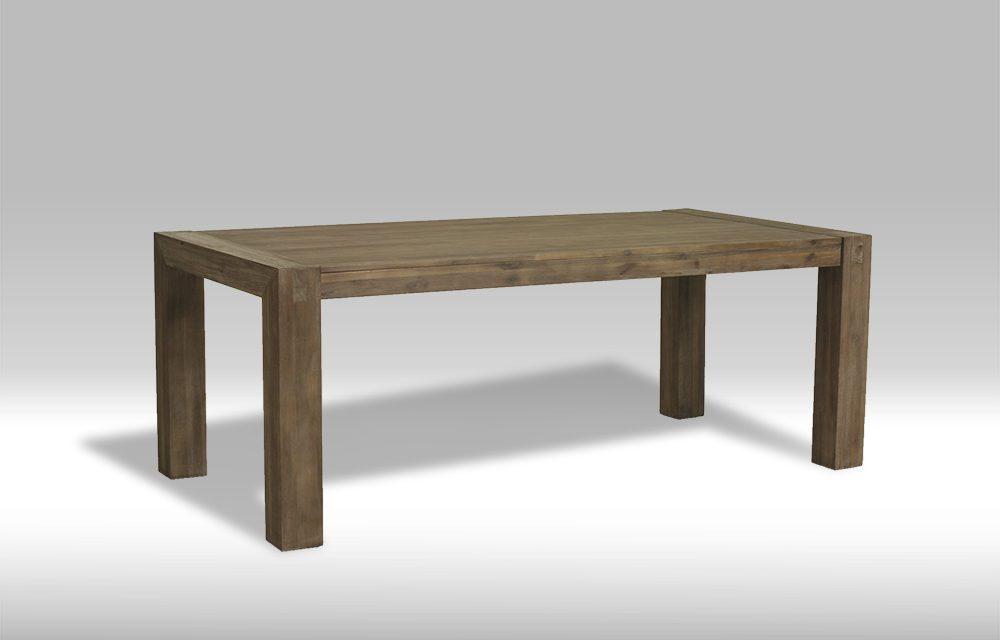 Hamburg spisebord i brunbejset akacietræ (200×100)