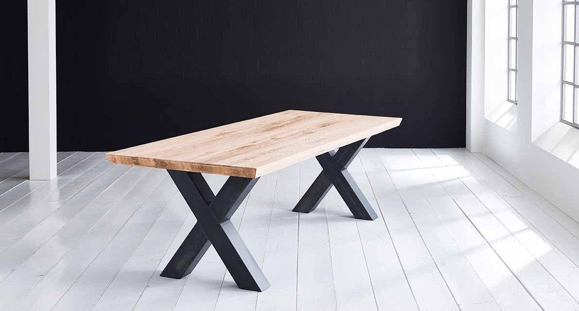 Concept 4 You Plankebord – Schweizerkant med Freja-ben, m. udtræk 6 cm 260 x 100 cm 01 = olie
