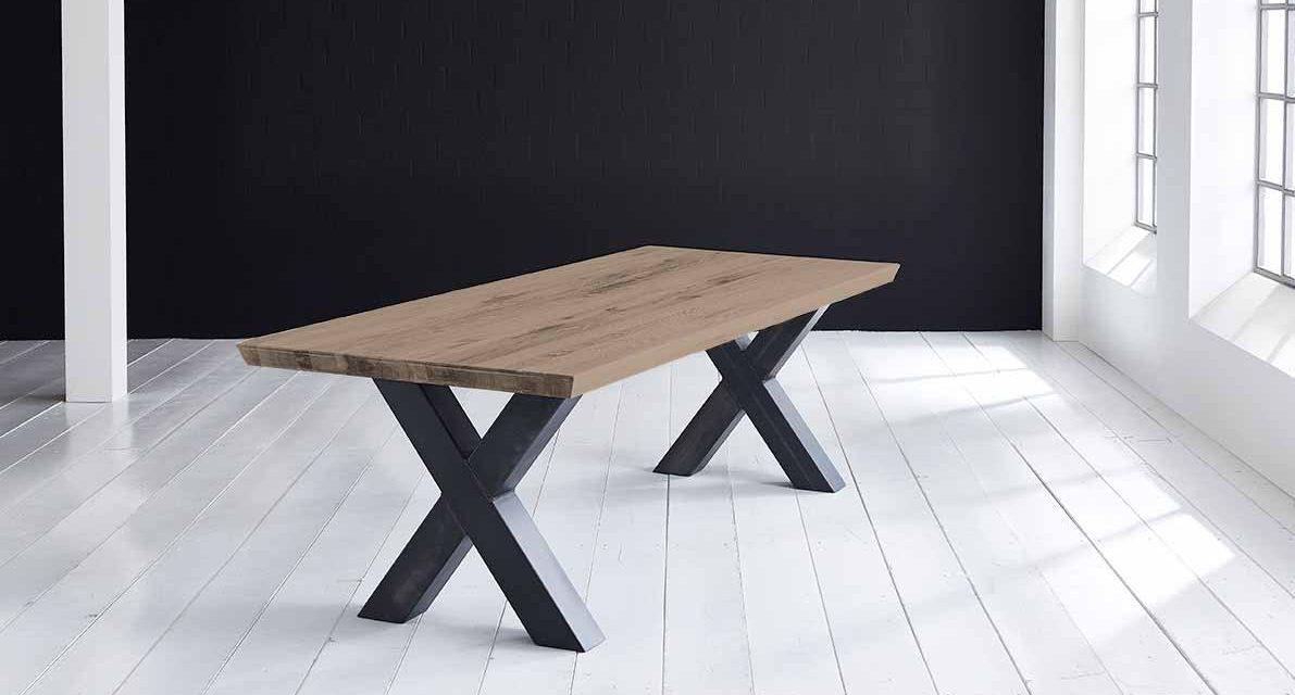 Concept 4 You Plankebord – Schweizerkant med Freja-ben, m. udtræk 6 cm 280 x 100 cm 02 = smoked