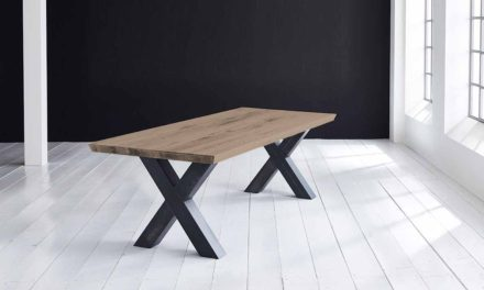 Concept 4 You Plankebord – Schweizerkant med Freja-ben, m. udtræk 6 cm 260 x 100 cm 02 = smoked