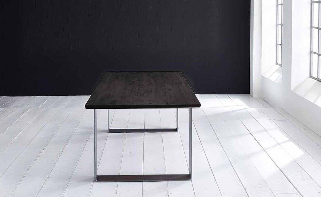 Concept 4 You Plankebord – Schweizerkant med Houston ben, m. udtræk 3 cm 240 x 100 cm 07 = mocca black