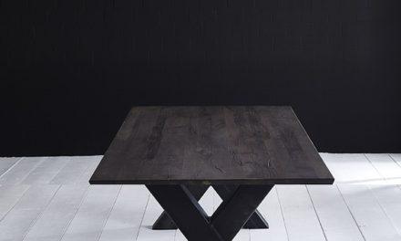 Concept 4 You Plankebord – Schweizerkant med Freja-ben, m. udtræk 6 cm 200 x 110 cm 07 = mocca black