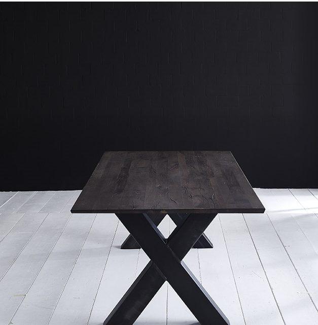Concept 4 You Plankebord – Schweizerkant med Freja-ben, m. udtræk 6 cm 280 x 110 cm 07 = mocca black
