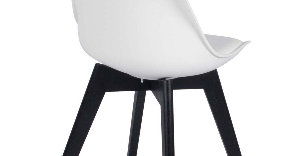 Mia spisebordsstol, hvid/sort